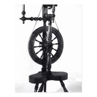 Spinning wheel post cards