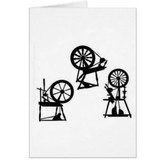 Spinning wheels card