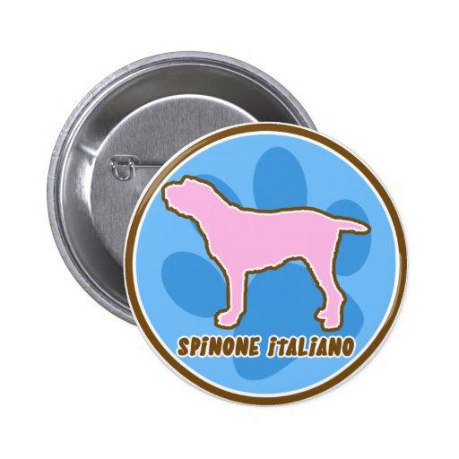 Spinone de moda Italiano Pin Redondo 5 Cm