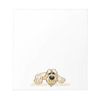 Spinone Italiano brightly head Cute Notepad