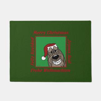 Spinone Italiano darkly Christmas Doormat