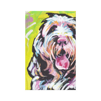 Spinone Italiano Dog Pop Art on Stretched Canvas Canvas Print