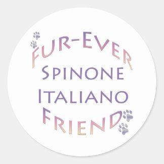 Spinone Italiano Furever Friend Classic Round Sticker