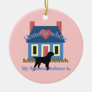 Spinone Italiano Home Is Ceramic Ornament
