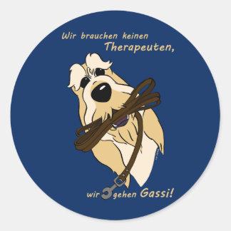 Spinone Italiano - therapist Classic Round Sticker