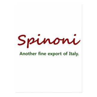 Spinoni exporting postcard