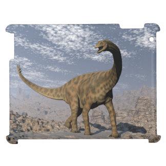 Spinophorosaurus dinosaur walking in the desert iPad cover