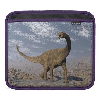 Spinophorosaurus dinosaur walking in the desert sleeve for iPads