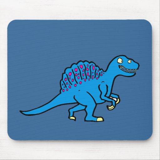 Spinosaurus azul tapete de ratones
