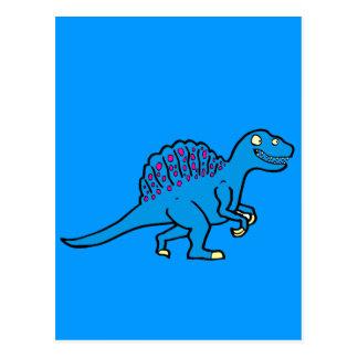 Spinosaurus azul tarjetas postales