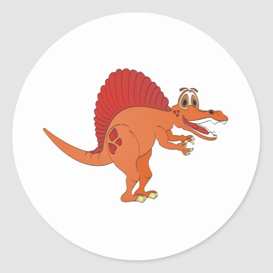 Spinosaurus Cartoon Classic Round Sticker