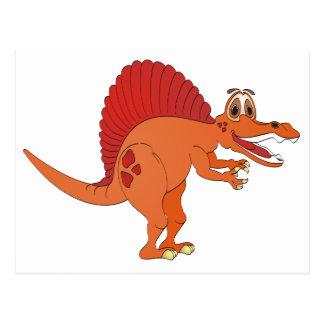 Spinosaurus Cartoon Postcard