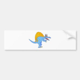 Spinosaurus Dinosaur Cartoon Bumper Sticker