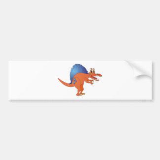 Spinosaurus Dinosaur Cartoon Bumper Stickers