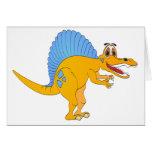 Spinosaurus Dinosaur Cartoon Card