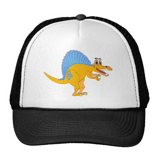 Spinosaurus Dinosaur Cartoon Mesh Hats