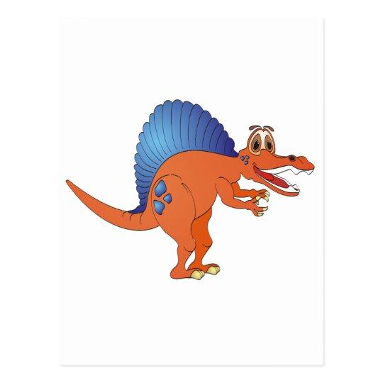Spinosaurus Dinosaur Cartoon Postcard