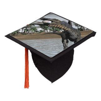Spinosaurus dinosaur eating fish - 3D render Graduation Cap Topper
