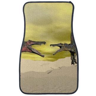 Spinosaurus dinosaur fighting - 3D render Car Floor Mat