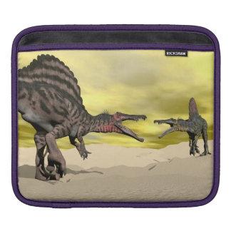 Spinosaurus dinosaur fighting - 3D render Sleeve For iPads