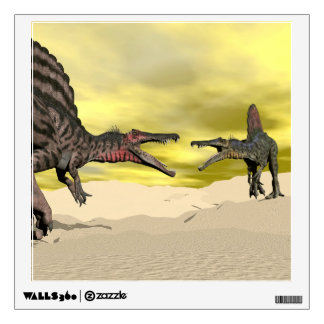 Spinosaurus dinosaur fighting - 3D render Wall Decal