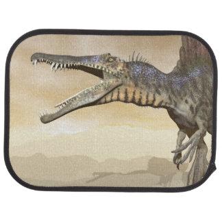 Spinosaurus dinosaur in the desert - 3D render Car Floor Mat