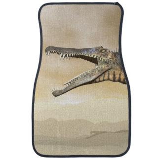 Spinosaurus dinosaur in the desert - 3D render Car Mat