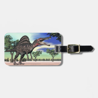 Spinosaurus dinosaur in the desert - 3D render Luggage Tag