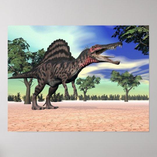 Spinosaurus Dinosaur In The Desert
