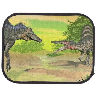 Spinosaurus dinosaurs fight - 3D render Car Floor Mat