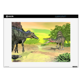 """Spinosaurus dinosaurs fight - 3D render Decals For 15"""" Laptops"""