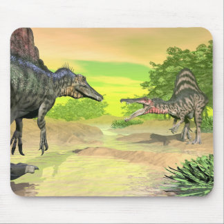 Spinosaurus dinosaurs fight - 3D render Mouse Pad