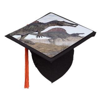 Spinosaurus dinosaurs in desert - 3D render Graduation Cap Topper
