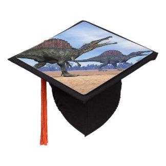 Spinosaurus dinosaurs walk - 3D render Graduation Cap Topper
