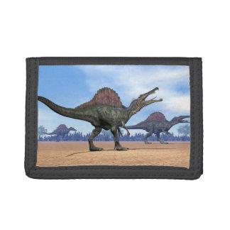 Spinosaurus dinosaurs walk - 3D render Trifold Wallet