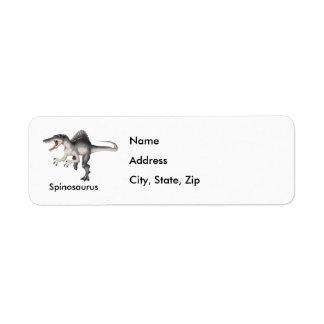 Spinosaurus Return Address Label