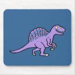 Spinosaurus púrpura tapetes de raton