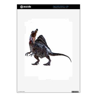 Spinosaurus que se pone en cuclillas y que mira a iPad 2 skin