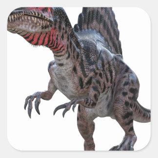 Spinosaurus Running Square Sticker