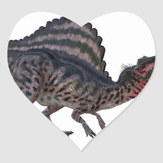 Spinosaurus Squatting and Looking Ferocious Heart Sticker