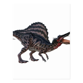 Spinosaurus Squatting and Looking Ferocious Postcard