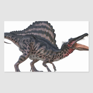 Spinosaurus Squatting and Looking Ferocious Rectangular Sticker