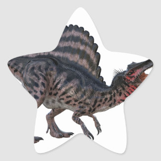 Spinosaurus Squatting and Looking Ferocious Star Sticker