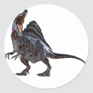 Spinosaurus Squatting and Looking to the Left Classic Round Sticker