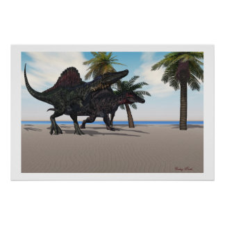 Spinosaurus Walking Print