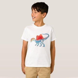 Spinosaurus Watercolor Sky Blue T-Shirt