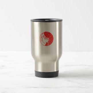 Spiny lobster circle travel mug