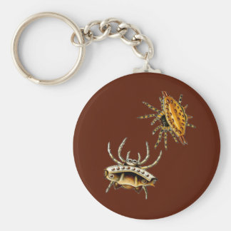 Spiny Orb-Weaver Basic Round Button Keychain