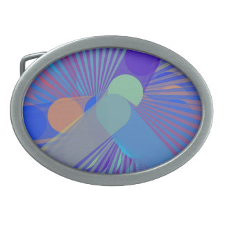Spira-Weird - Colorful Abstract Belt Buckle