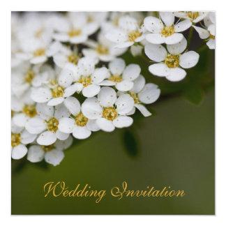 """Spiraea Wedding Invitation 5.25"""" Square Invitation Card"""